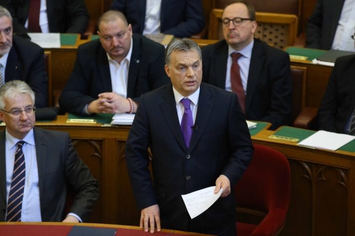 Orbán Viktor a parlamentben