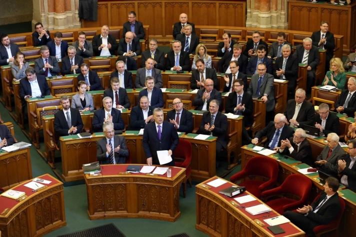 Orbán Viktor hétfőn a Parlamentben az európai uniós csúcsról.
