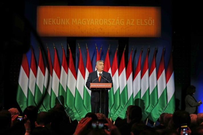 Orbán Viktor miniszterelnökvasárnap elmondott 20. évértékelőjében, amelyet Budapesten, a Várkert Bazárban tartott