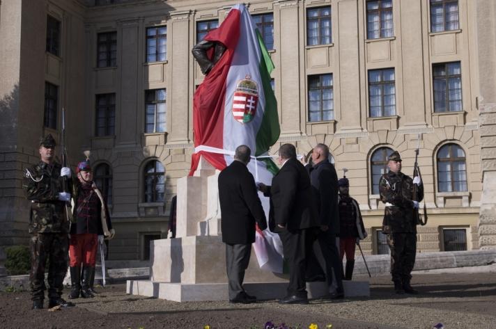 Az 1918. október 31-én meggyilkolt gróf Tisza István egykori miniszterelnökre emlékeztek Debrecenben.