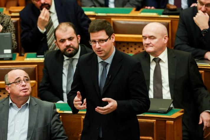 Gulyás Gergely napirend előtti felszólalásában.