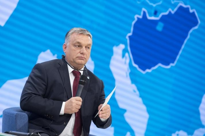 Orbán Viktor a visegrádi országok (V4: Csehország, Lengyelország, Magyarország és Szlovákia) kormányfőinek találkozóján
