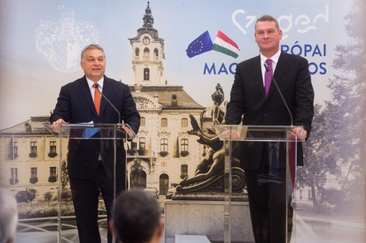 Orbán Viktor:Szegednek minden adottsága megvan ahhoz, hogy kiemelkedő regionális központ legyen