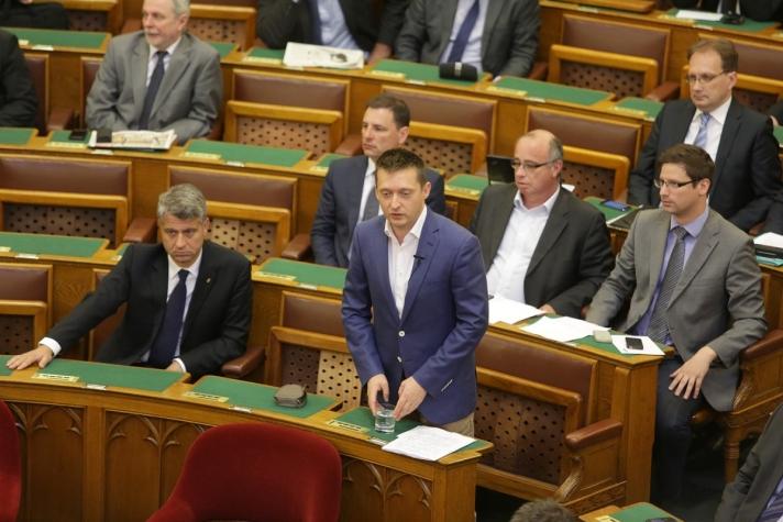 Rogán Antal napirend előtti felszólalásában.