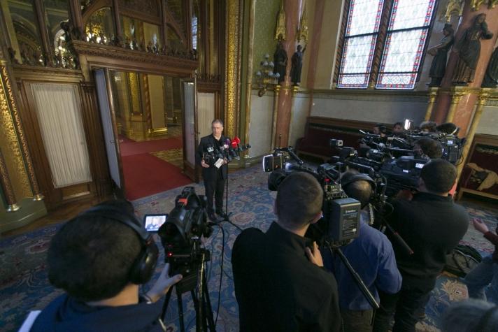 A Fidesz frakcióvezetője csütörtöki sajtótájékoztatóján
