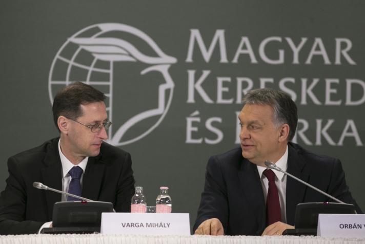 Orbán Viktor a Magyar Kereskedelmi és Iparkamara (MKIK) gazdasági évnyitóján.