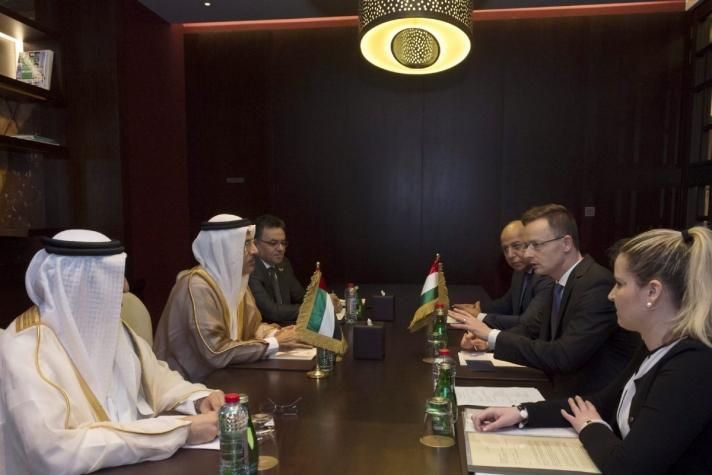 Szijjártó Péter külgazdasági és külügyminiszter Dubajban és Abu-Dzabiban