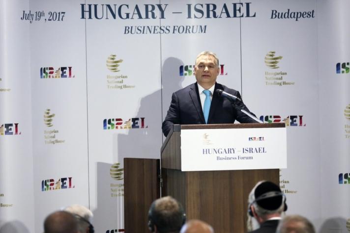 Orbán Viktor Minden politikai akadály elhárult a magyar-izraeli gazdasági együttműködés útjából