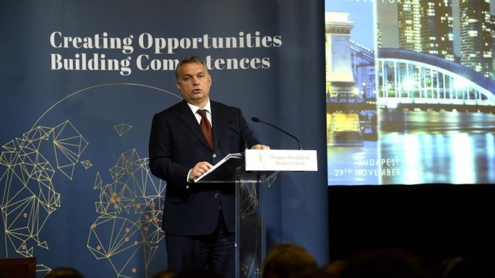 Orbán Viktor miniszterelnök kedden a magyar-bangladesi üzleti fórumon Budapesten.