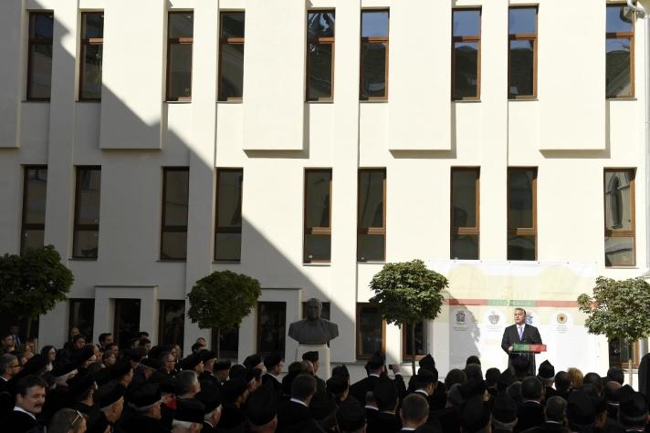Orbán Viktor miniszterelnök Kolozsváron, a reformáció 500. évfordulójára