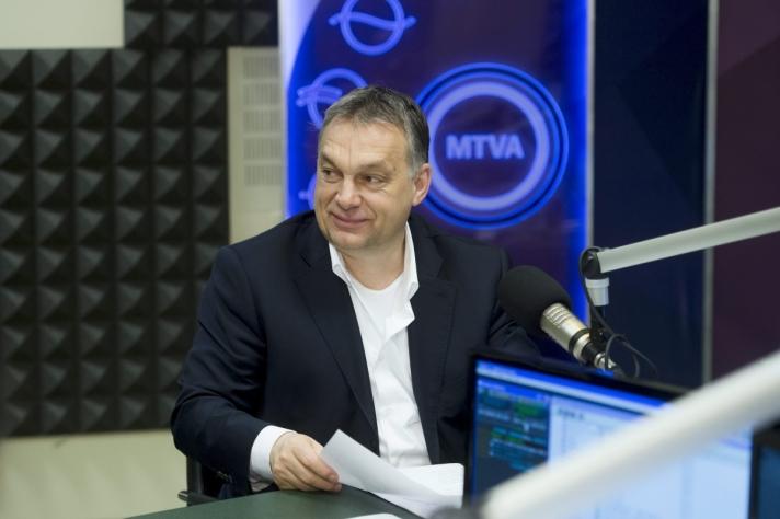 Orbán Viktor pénteken a Kossuth Rádió 180 perc című műsorában.