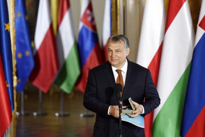 Orbán Viktor a Királyi Várban tartott ünnepségen köszönetet mondott jelen lévő V4-es miniszterelnöktársainak